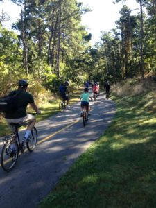 Youth group enjoying Cape Cod Rail Trail